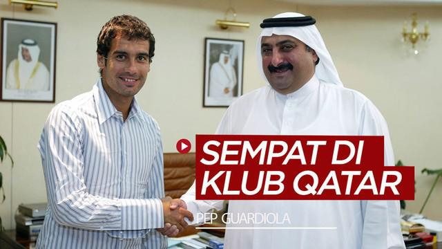 Berita video flashback momen ketika Manajer Manchester City, Pep Guardiola, berseragam klub Qatar, Al-Ahli, rentang 2003-2005.