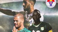 Piala Menpora - David da Silva, Paulo Sergio, Makan Konate (Bola.com/Adreanus Titus)