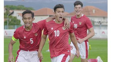 5 Aksi Rizky Ridho saat Uji Coba Timnas U-19 di Kroasia, Pemain Andalan