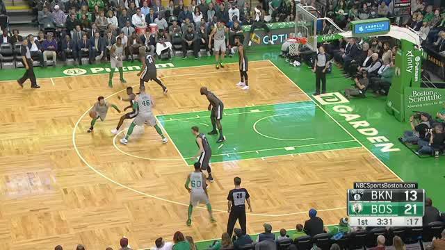 Berita video game recap NBA 2017-2018 antara Boston Celtics melawan Brooklyn Nets dengan skor 110-97.