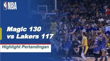 Nikola Vucevic mencetak double-double dengan 36 poin dan 13 rebound untuk memimpin Magic melewati Lakers, 130-117.