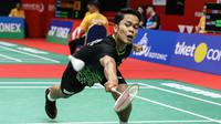 Anthony Sinusuka Ginting pada Kejuaraan Bulutangkis Asia Beregu 2020, Rabu (12/2/2020). (PBSI)
