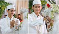 Menikah dengan teman, pasangan ini tak kausa tahan tawa di pelaminan. (Sumber: TikTok/@inaaniina)