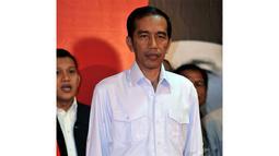 Meski telah didukung oleh Partai Nasdem dan PKB, Jokowi tak bisa menyembunyikan ketegangannya, Lenteng Agung, Jakarta, Rabu (14/05/2014) (Liputan6.com/Johan Tallo).