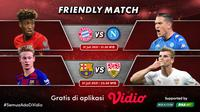 Link Live Streaming Pertandingan Pramusim Bayern Munich dan Barcelona di Vidio, Sabtu 31 Juli 2021. (Sumber : dok. vidio.com)