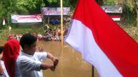 Ratusan masyarakat Kelurahan Aur, Kecamatan Medan Maimun, Kota Medan, Sumatera Utara, punya cara senciri merayakan 70 tahun kemerdekaan RI.