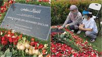 Bunga Citra Lestari ziarah ke makam Ashraf Sinclair (Sumber: Instagram/emmymuchlis)