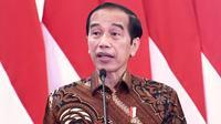 Presiden Joko Widodo (Jokowi) menyampaikan target penurunan stunting 14 persen pada 2024 bukanlah pekerjaan mudah saat arahan di Istana Kepresidenan Jakarta, Kamis (28/1/2021). (Biro Pers Sekretariat Presiden/Rusman)