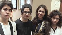 Maia Estianty dan Al, El, Dul (Instagram)