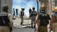 Ilustrasi pasukan militer India di Kashmir (Tauseef Mustafa / AFP)