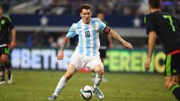 Timnas Argentina yang dihuni pemain top Dunia, Lionel Messi berada pada peringkat ke-2 Dunia FIFA. (Ronald Martinez/Getty Images/AFP)