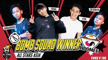 Tim Indonesia, Indomee, berhasil menjuarai Turnamen Free Fire All Stars 2021 Asia