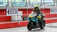 Valentino Rossi jalani balap terakhir di MotoGP Emilia Romagna di sirkuit Misano (Andrea Solaro/AFP)