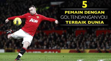 Video gol-gol voli terbaik di mana Robin van Persie saat di Arsenal di urutan lebih baik dibanding Wayne Rooney di Manchester United.