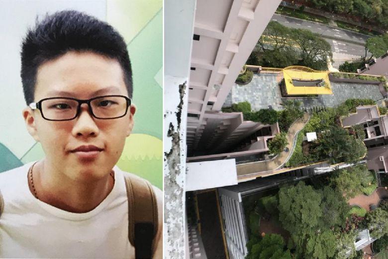 Ng Jun Hui (16) dinyatakan tewas di lokasi kejadian setelah jatuh dari lantai 12 Block 79D apartemen Toa Payoh Central, pada 23 Januari 2018.