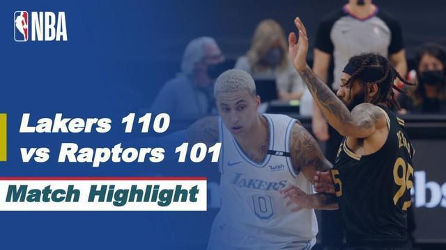 Berita Video Highlights NBA, LA Lakers Tumbangkan Toronto Raptors 110-101 (7/4/2021)