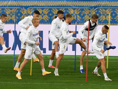 Lihat Latihan Ukraina Jelang Lawan Spanyol