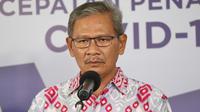 Juru Bicara Pemerintah untuk Penanganan COVID-19 di Indonesia, Achmad Yurianto saat konferensi pers Corona di Graha BNPB, Jakarta, Sabtu (30/5/2020). (Dok Badan Nasional Penanggulangan Bencana/BNPB)