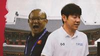 Park Hang-seo vs Shin Tae-yong. (Bola.com/Dody Iryawan)