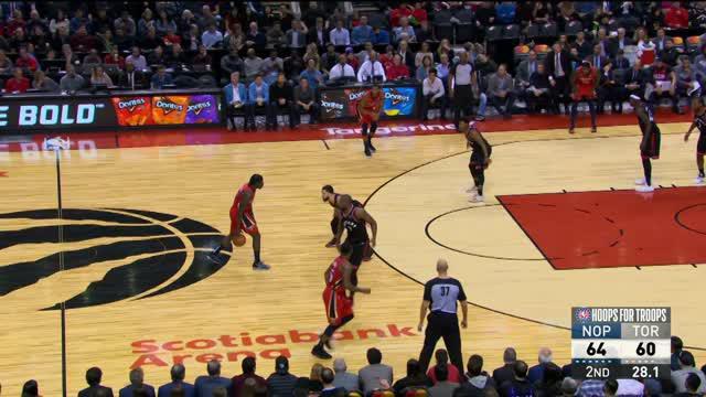 Jrue Holiday mengumpulkan 29 poin dengan 14 assist saat Pelicans menang atas Raptors, 126-110.