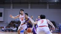 CLS Knights Indonesia menyerah 75-77 dari Singapore Slingers pada gim kedua final ASEAN Basketball League (ABL) 2018-2019. (dok. CLS Knights Indonesia)