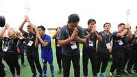 Timnas Thailand U-22 seusai memastikan melaju ke final SEA Games 2017 dengan mengalahkan Myanmar secara dramatis, Sabtu (26/8/2017). (Bola.com/FA Thailand)