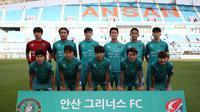 Ansan Greeners FC musim lalu finis di peringkat ketujuh pada K-League 2 bersama pelatih Kim Gil-sik. (dok. Ansan Greeners FC)