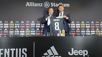 Aaron Ramsey resmi diperkenalkan sebagai pemain Juventus pada Senin (15/7/2019) sore waktu setempat. (dok. Juventus)