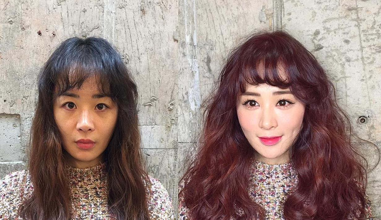 kayak habis oplas: foto wanita korea before after make up