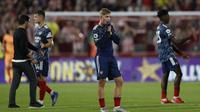 Arsenal menelan kekalahan 0-2 dari Brentford pada laga pembuka Liga Inggris 2021/2022. (ADRIAN DENNIS / AFP)