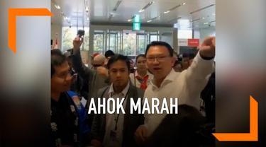 Beredar sebuah video Basuki Tjahaja Purnama atau Ahok sedang marah-marah di Tempat Pemilihan Suara Osaka Jepang hari Minggu (14/3).