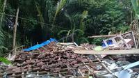 Gempa 7 SR di Lombok meluluhlantakkan rumah penduduk. (Istimewa)