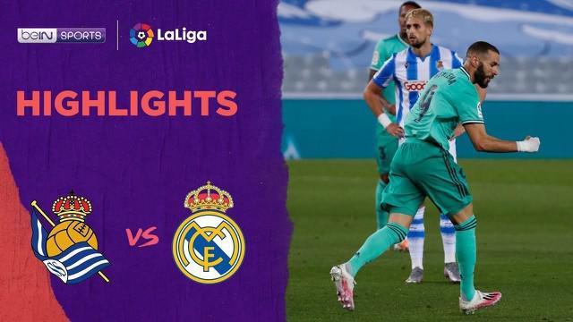 Berita video highlights La Liga 2019-2020 antara Real Sociedad melawan Real Madrid yang berakhir dengan skor 1-2, Senin (22/6/2020) dini hari WIB.
