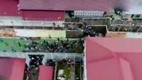 Ratusan tahanan kabur dari Rutan Sialang Bungkuk, Pekanbaru, Riau. (Liputan 6 SCTV)