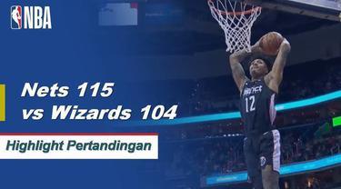 Spencer Dinwiddie mengangkat Nets ke kemenangan 115-104 atas Wizards, mencetak 25 poin dan menghasilkan delapan assist.