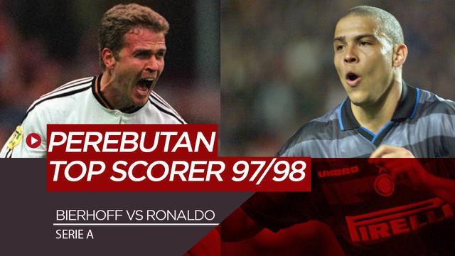 Berita Video Melihat Kembali Momen Persaingan Ronaldo dan Oliver Bierhoff di Serie A Musim 1997/1998