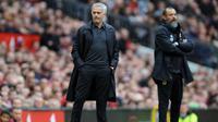 Manajer Manchester United, Jose Mourinho. (AP Photo/Rui Vieira)