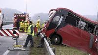 Ilustrasi Kecelakaan bus di China (AFP)