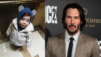 Park Gunhoo dan Keanu Reeves (Instagram/ annanotpark - FREDERIC J. BROWN / AFP)