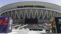 Suasana Philippine Arena di Santa Maria, Bulacan, Kamis, (29/11). Arena indoor terbesar di dunia tersebut akan menjadi venue upacara pembukaan multievent dua tahunan tersebut.(Bola.com/M Iqbal Ichsan)