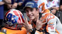 Marc Marquez mengatakan strategi ban depan yang berjalan sempurna menjadi kunci kemenangannya pada MotoGP Austin.