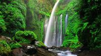 Air terjun ini berada di kaki Gunung Rinjani (sumber: ayokelombok)