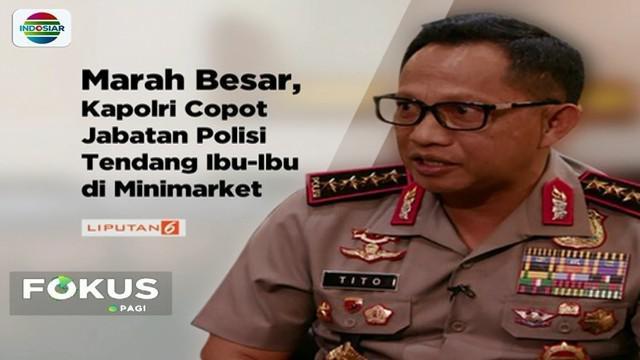 Menyikapi kasus penganiayaan oleh perwira polisi terhadap ibu pencuri di sebuah minimarket di Bangka Belitung, Kapolri telah mencopot pelaku dari jabatannya.