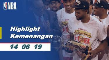 Berita video momen juara dan selebrasi Toronto Raptors menjadi juara NBA 2018-2019 setelah pada partai final mengalahkan Golden State Warriors 4-2.