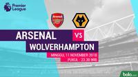 Premier League 2018-2019 Arsenal vs Wolverhampton Wanderers (Bola.com/Adreanus Titus)