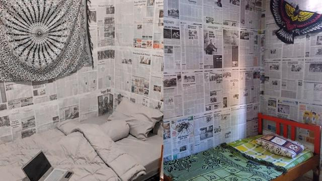 Kreatif Sekaligus Kocak Ini 6 Potret Kamar Tidur Pakai Wallpaper Koran Hot Liputan6 Com
