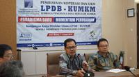 Direktur Utama Lembaga Pengelola Dana Bergulir (LPDB) KUKM Braman Setyo menggelar pertemuan dengan para pengusaha UKM di Provinsi Jawa Barat.