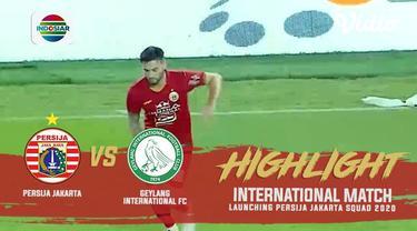 Berita video momen gol perdana Osvaldo Haay untuk Persija Jakarta saat menghadapi Geylang International FC dalam laga persahabatan yang digelar di SUGBK, Senayan, Minggu (23/2/2020).