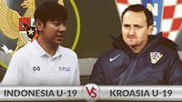 Laga persahabatan Timnas Indonesia U-19 vs Timnas Kroasia U-19: Duel Shin Tae-yong dan Josip Simunic. (Bola.com/Dody Iryawan)