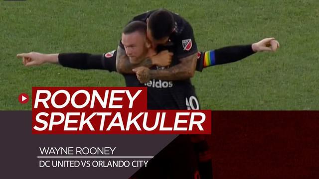 Berita video momen gol spektakuler Wayne Rooney dari tengah lapangan di MLS (Major League Soccer) saat DC United mengalahkan Orlando City 1-0, Rabu (26/6/2019).